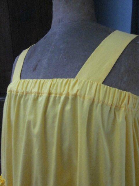 Jupon CLEMENTINE en coton jaune soleil (8)