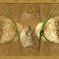 Rouleaux ou paquets à la creme de sardine