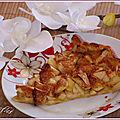 Tarte aux pommes façon oriental