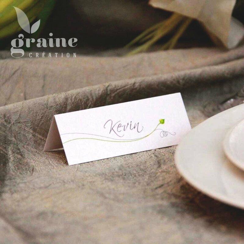 marque-place Printemps fleur renoncule
