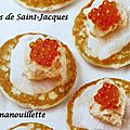 Blinis de saintjacques