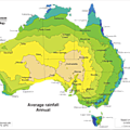 Average annual rainfall in Australia