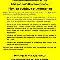 Réunion publique plui mercredi 27 juin 19h00 hôtel communautaire - le cardo - marquise