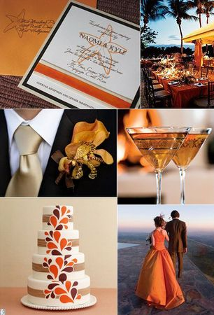 orange_chocolate_brown_cocktails_wedding_inspiration_board