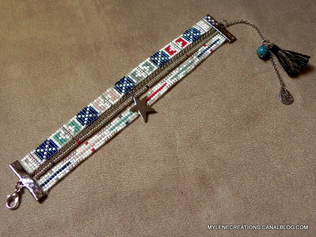 bracelet rouge et bleu