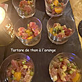 Tartare de thon à l'orange