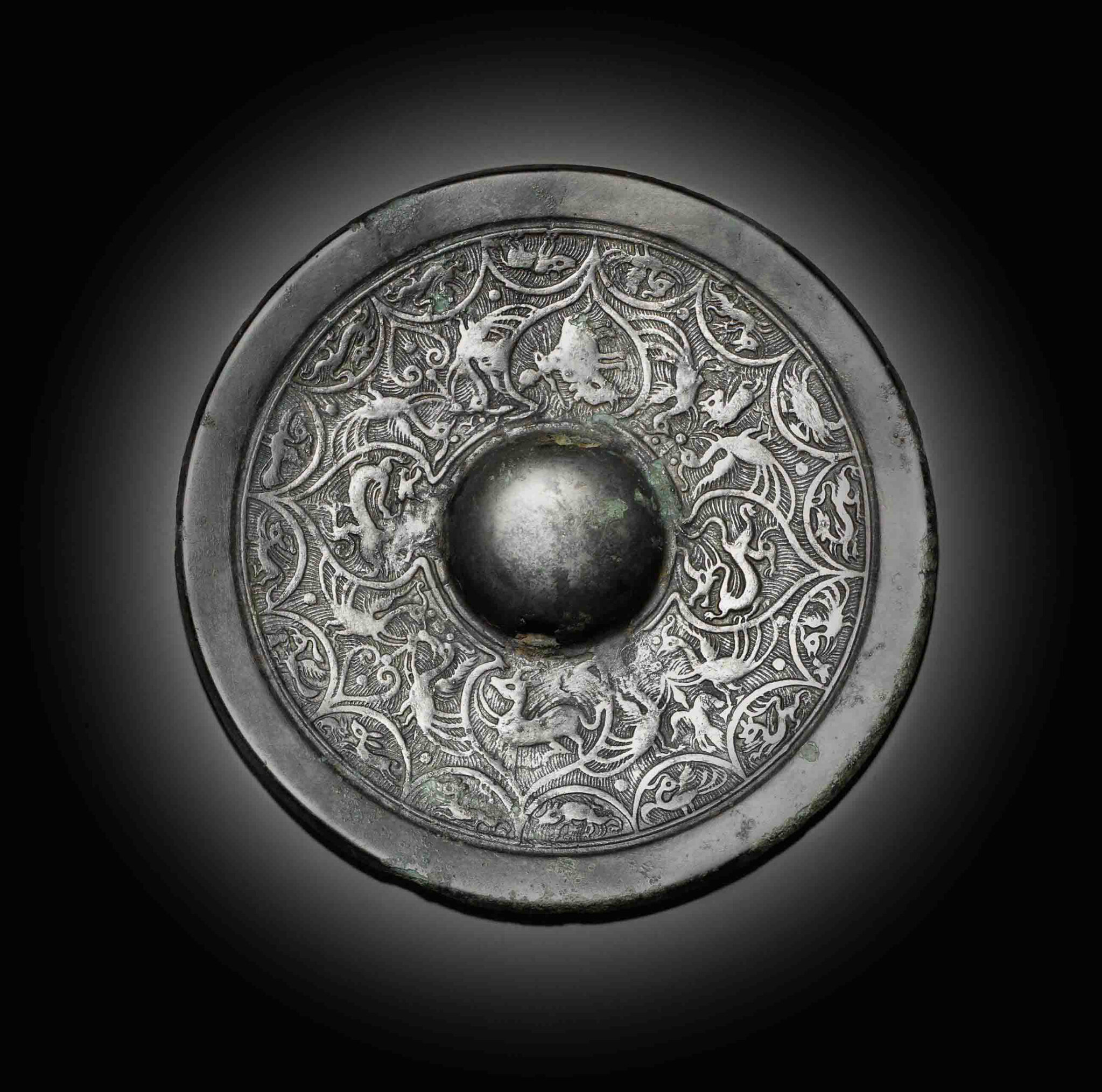 A rare bronze mirror, Three Kingdoms-Western Jin, 3rd-4th century