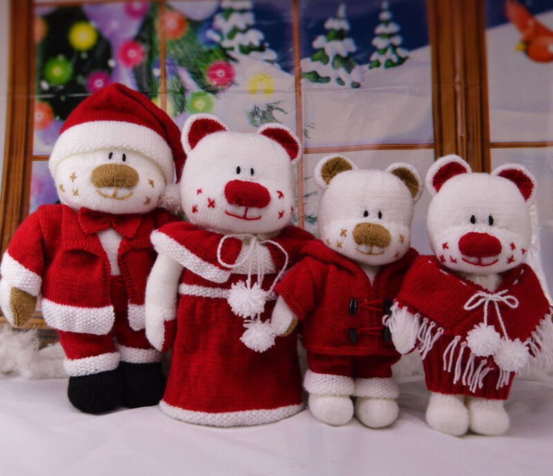 Traduction Christmas Aventures Beau, Belle, Boo and Bess - Knitting by Post