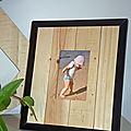 cadre photo fabriqué avec des cagettes