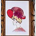 Carton Mousse la Dame au Chapeau Rouge 13x18 cm