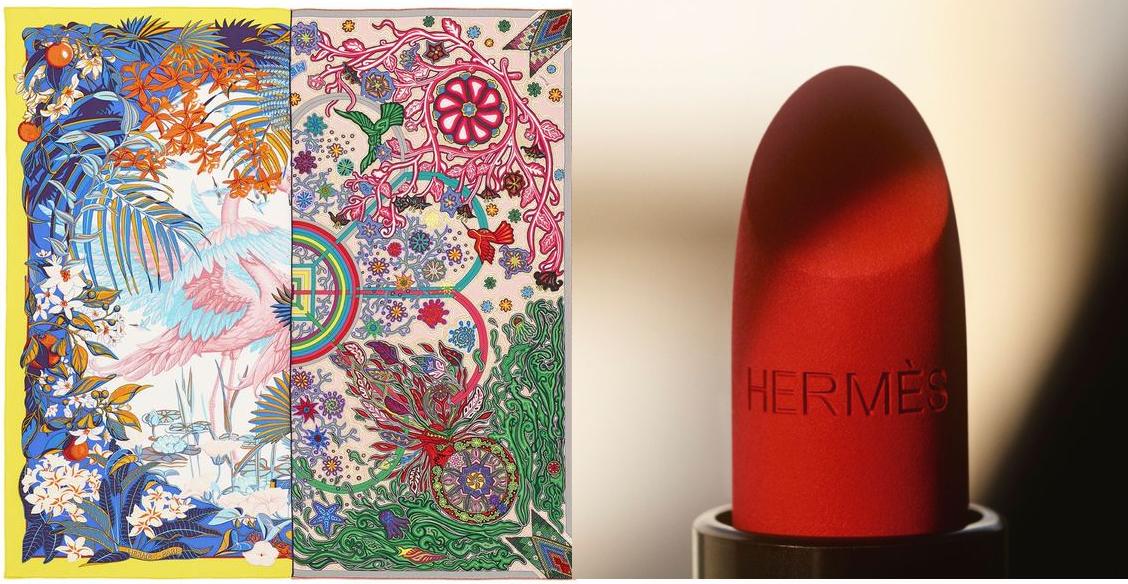 Lancement des carrés de soie double face & du premier rouge à lèvres de la maison HERMES