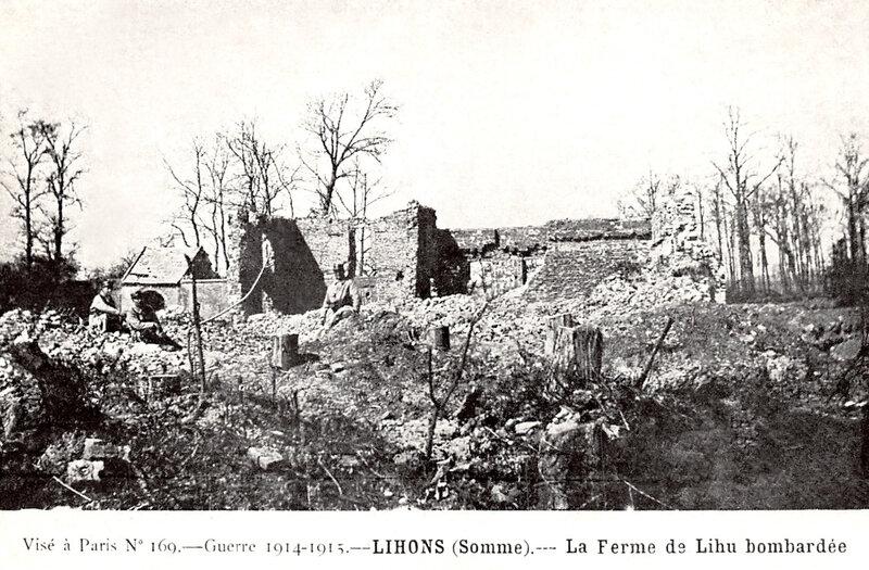 ferme de Lihu bombardée