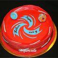 Gâteau Beyblade stadium dessus cake