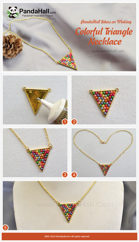 2PandaHall Ideal on Making Colorful Triangle Necklace