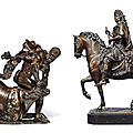 Two 17th century bronze masterpieces from the court of the sun king louis xiv of france