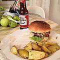 Burger compotée d'oignons aux figues et sauce foie gras de Camille