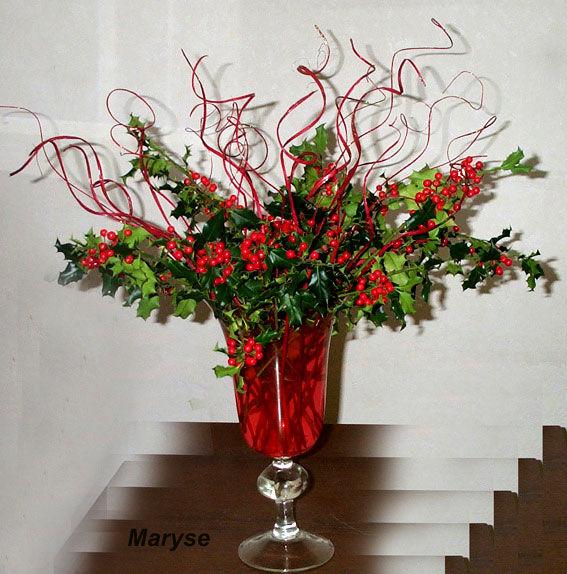 D coration de no l bouquet de houx le blog cr atif de mohati - Decoration de noel avec du houx ...