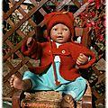 Ensemble gilet+bonnet bébé