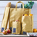 Sacs coton kraft - bake house collection - baguette - lunch - petites courses - grandes courses - le comptoir américain