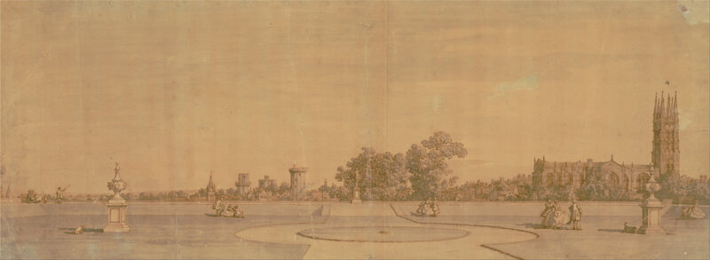 Canaletto_-_Warwick-_The_Town_and_Castle_from_the_Priory_Gardens_-_Google_Art_Project