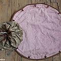 sac tapis pieds au sec piscine doré et rose
