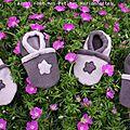 chausson fleur violet 2