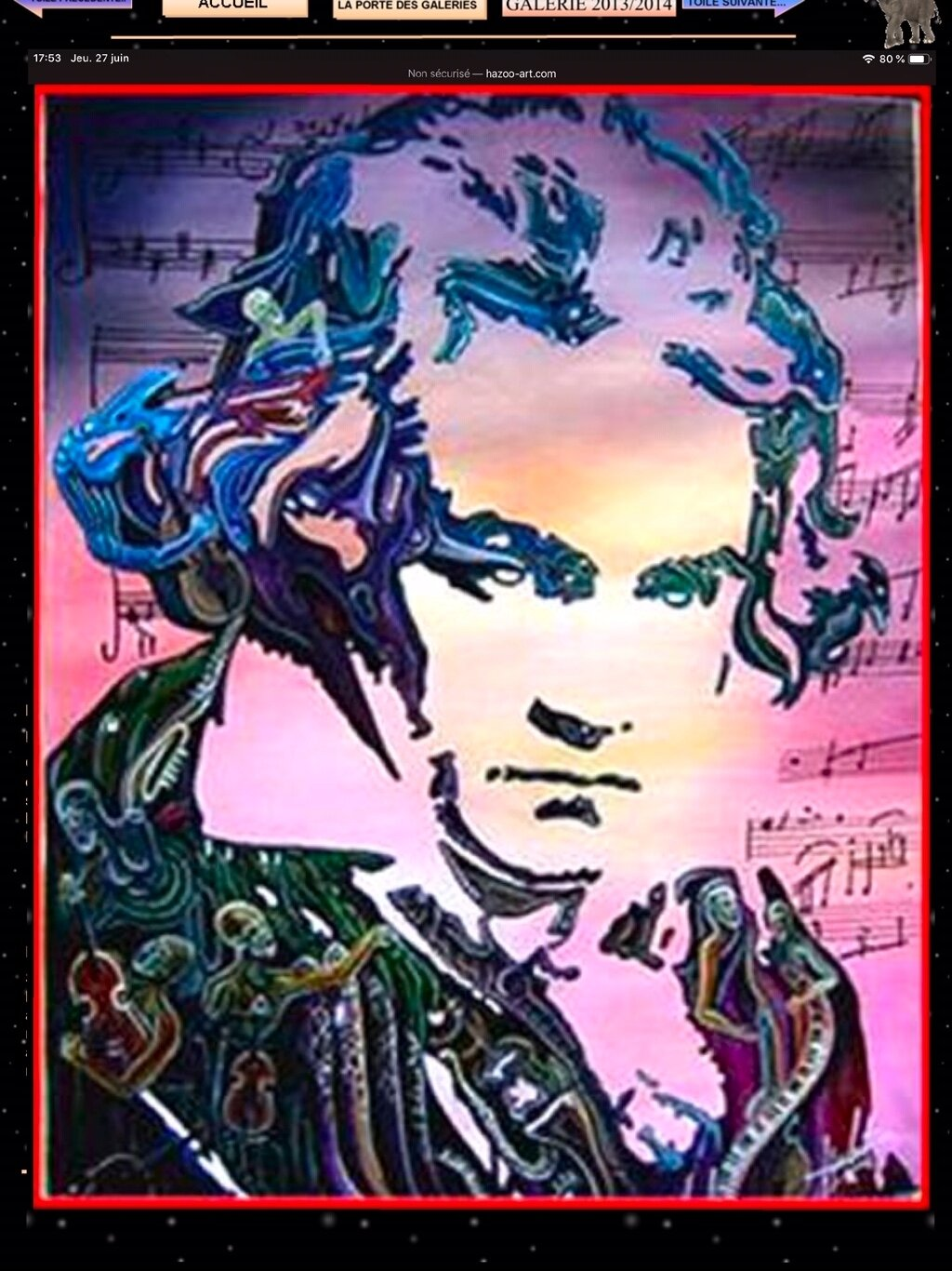 BEETHOVEN....huile sur toile by Hazoo!