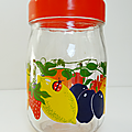 Vintage ... pot en verre le parfait (1l) * fruits