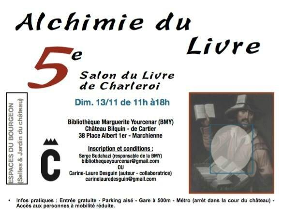 Cinquième Salon du livre de Charleroi Alchimie du livre