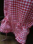 Panty en coton vichy rouge et blanc - taille élastique - lien de serrage au bas (3)