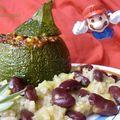 Courgette ronde farcie végétarienne à la mexicaine