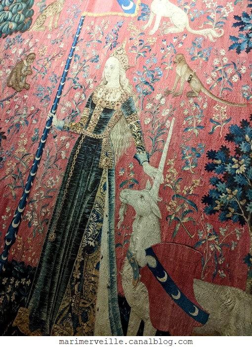 La dame à la licorne - le toucher - blog Marimerveille