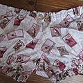 Culotte BIANCA en coton blanc imprimé timbre oiseau rose et beige - noeud de vichy beige (5)