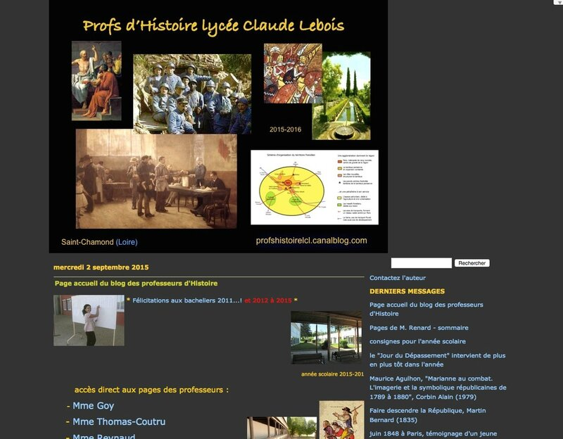 blog professeurs histoire