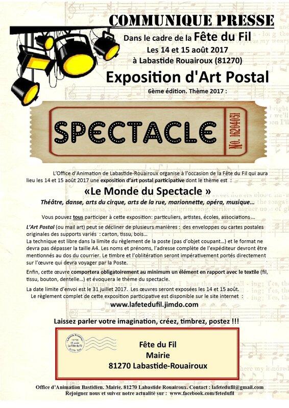 ART POSTAL 2017 affiche appel
