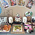 Sweet table d'anniversaire sur le thème