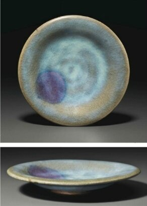 A small Junyao purple-splashed dish, Jin-Yuan Dynasty, 13th century