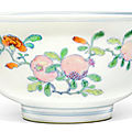 A finely enamelled doucai and famille-rose 'sanduo' bowl, yongzheng mark and period (1723-1735)