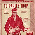 Tu parles trop - johnny hallyday (partition - sheet music)