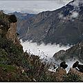 Au dessus des nuages, à la croix du condor, 3 287 mètres