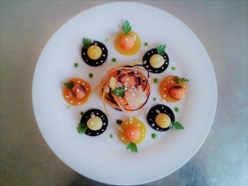 Salade de carotte revisitée ( du chef Custos) entrée d'été