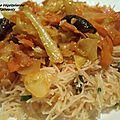 Sauté de légumes et de vermicelles de riz