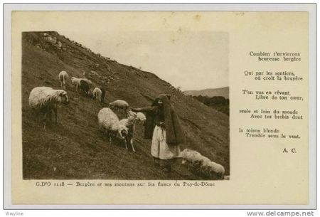 Bergere Auvergne poeme