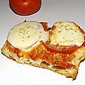 Tartines tomate/mozza