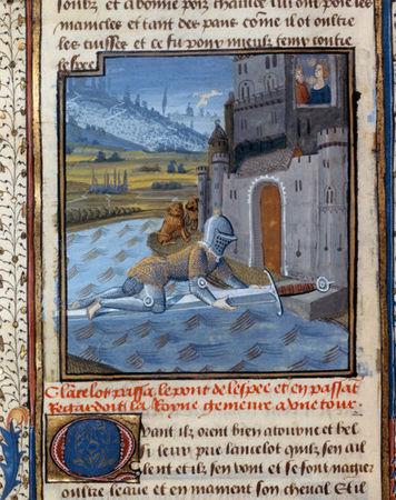 BNF Ms Fr 115 Lancelot au pont de lEpée XVe s