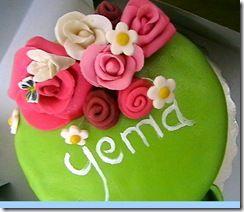 gâteau corbreille fleur