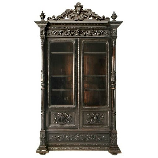 1860-Ebonized-Napoleon-III-Style-Bibliotheque-antiques-on-old-plank-road