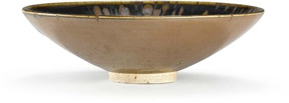 A persimmon and russet-splashed black-glazed bowl, Northern Song – Jin dynasty