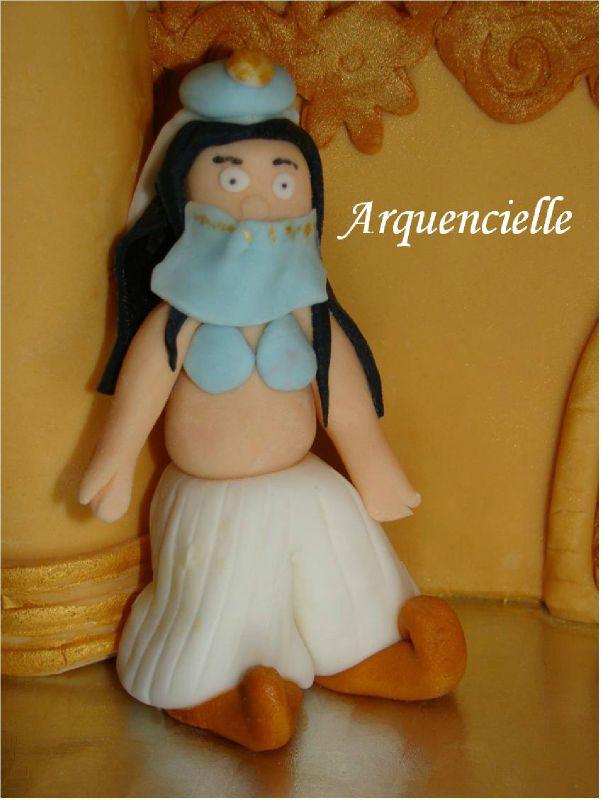 Gâteaux thème Aladin 1001 nuits détail Jasmine cake