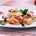 Gratin alsacien au gnocchis tomates fromages jambon....un régal!